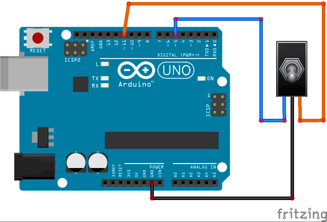 Hook up switch to arduino